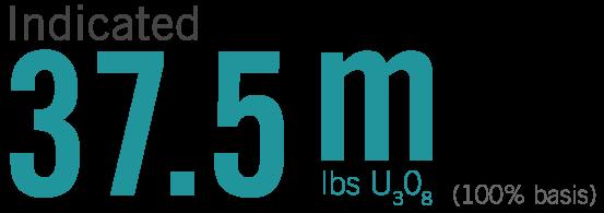 37.5 m lbs U3O8 indicated